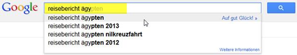 Beispiel Google Suggest