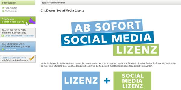 ClipDealer Social Media Lizenz