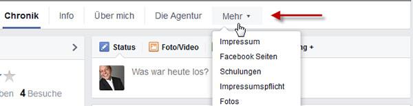 facebook-menueleiste
