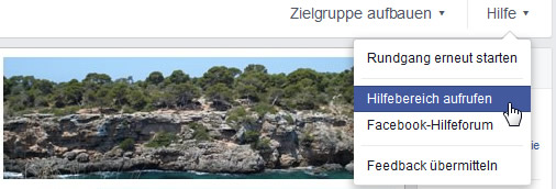 facebook-hilfebereich-aufrufen