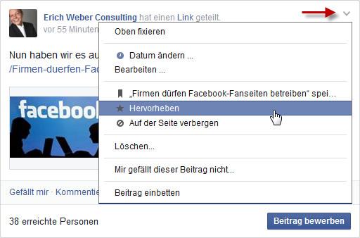 facebook-beitrag-hervorheben