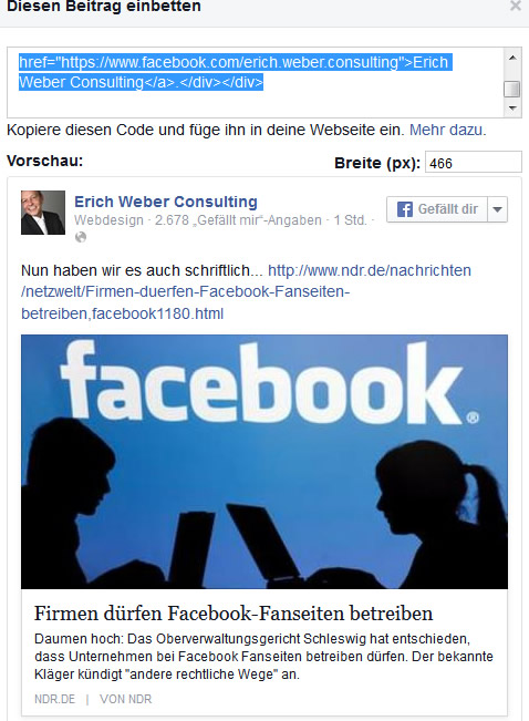 facebook-einbettungs-code